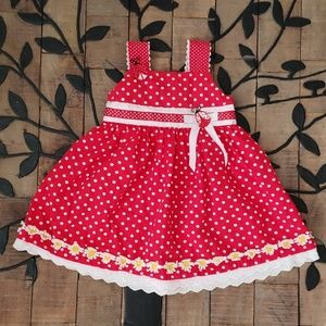 Blueberi Boulivard Lady bug daisy 3T red Dress